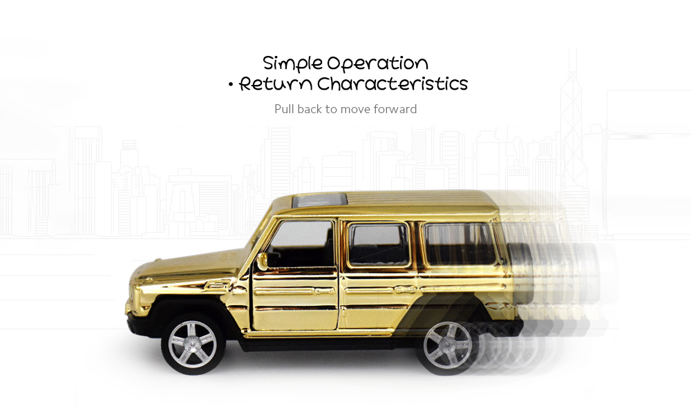 Golden Alloy Car Model Children's Toys Simulation Pull-off Off-road Car Model Cake Baking Decoration - Golden 918 Simple Operation·Return Characteristics