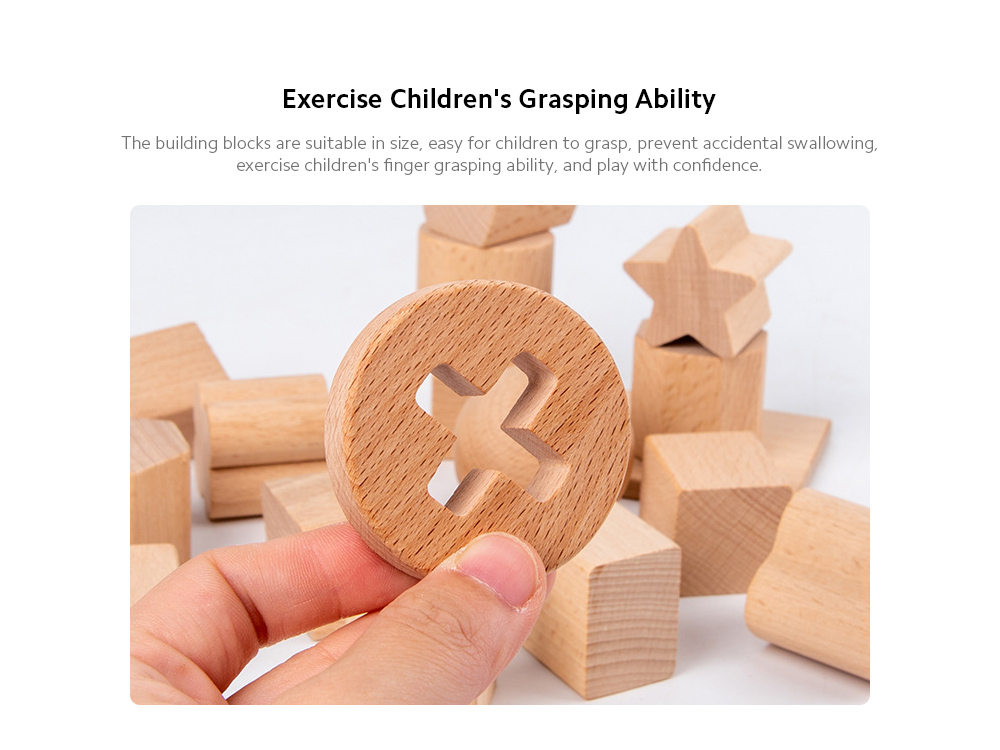 17-hole Intelligence Box Kindergarten Early Education Puzzle Geometric Shape Matching Cognitive Building Block Child Wood Toys - Multi-A Exercise Children's Grasping Ability