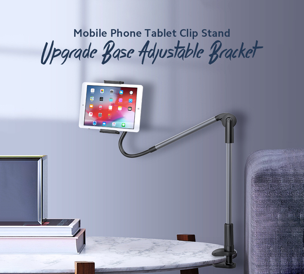 Margin Type Lazy Bracket Mobile Phone Tablet Clip Stand Upgrade Base Adjustable Bracket - White