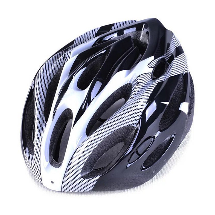 Bike Helmet Faux One-piece Integrated Mountain Bicycle Carbon Fiber Helmet men and women Universal Cycling Sports Protective Gear - White