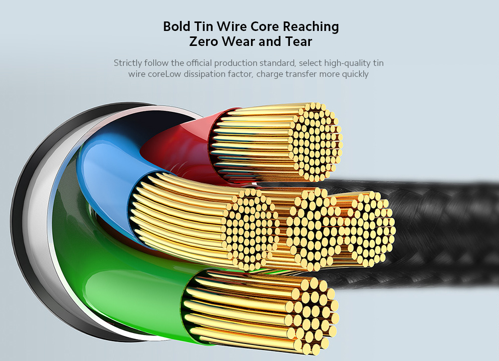 Baseus CATLYY-01 Data Cable 18W PD Nylon Woven Fast Charging Type-C Cable Applicable For iPhone - Black