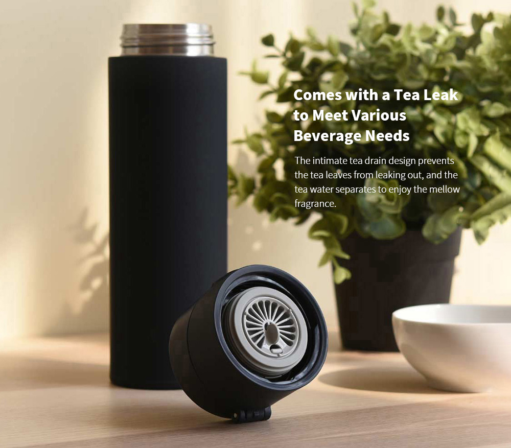 MJBWB03WC Vacuum Cup Bullet Cover Version 480ML from Youpin - White Comes with a Tea Leak to Meet Various Beverage Needs