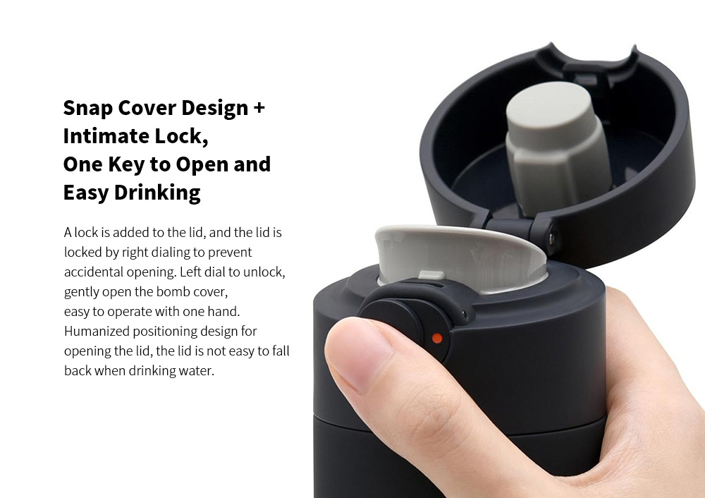 MJBWB03WC Vacuum Cup Bullet Cover Version 480ML from Youpin - White Snap Cover Design + Intimate Lock