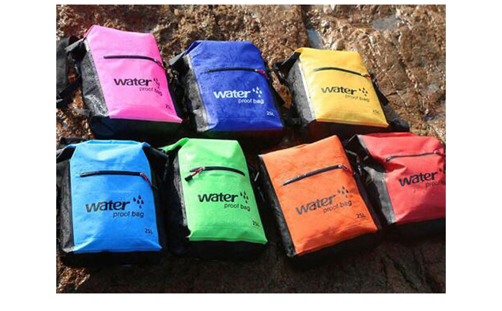 PVC Outdoor Swimming Backpack Sack Storage Bag - Yellow