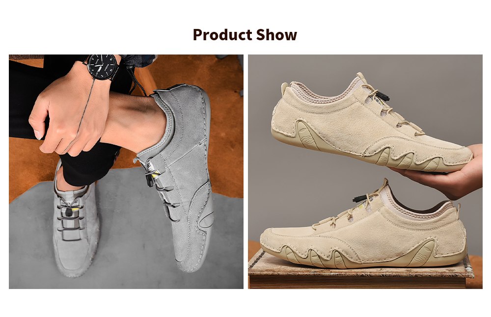 Men's Breathable Casual Shoes Eight Jamda Bean Leather Shoes - Card It 2027 39