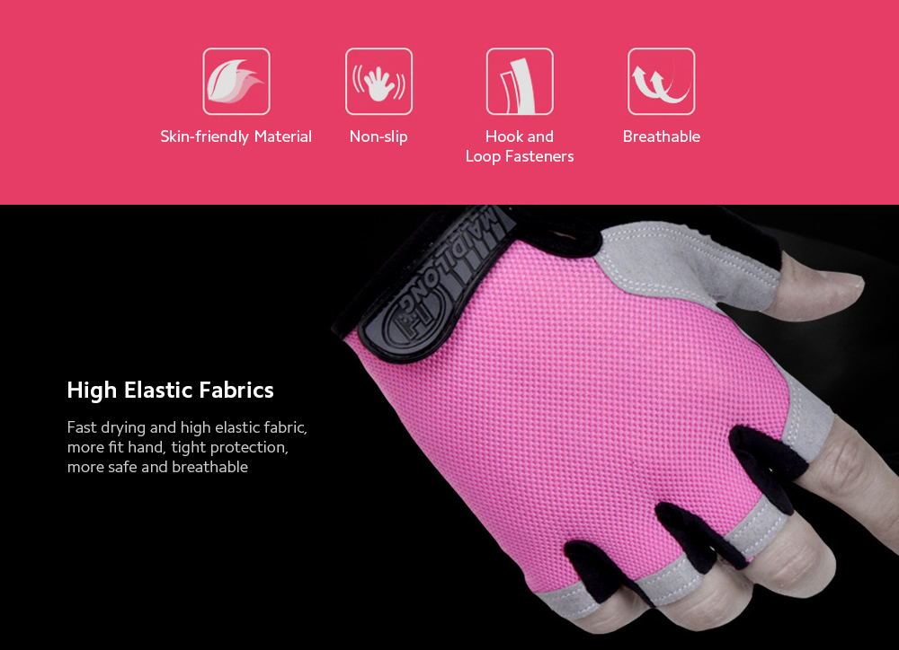 Half-finger Gloves Cycling Fitness Tactics Outdoor Sports Sunscreen Anti-slip Breathable Thin Fingerless Half Gloves - Red L
