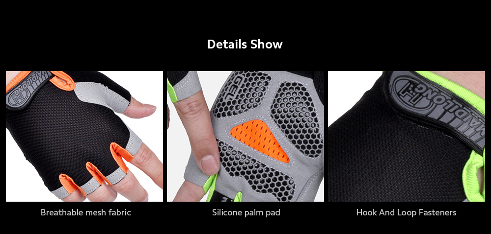 Half-finger Gloves Cycling Fitness Tactics Outdoor Sports Sunscreen Anti-slip Breathable Thin Fingerless Half Gloves - Green S