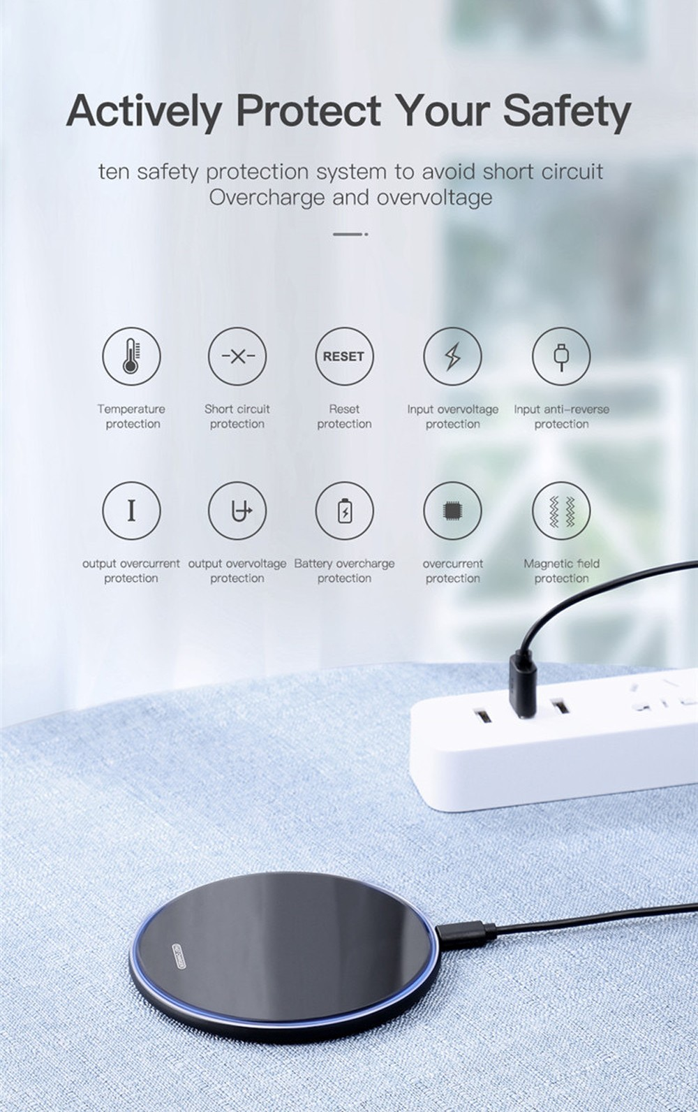 AD01 Wireless Charger - White Matte 10W
