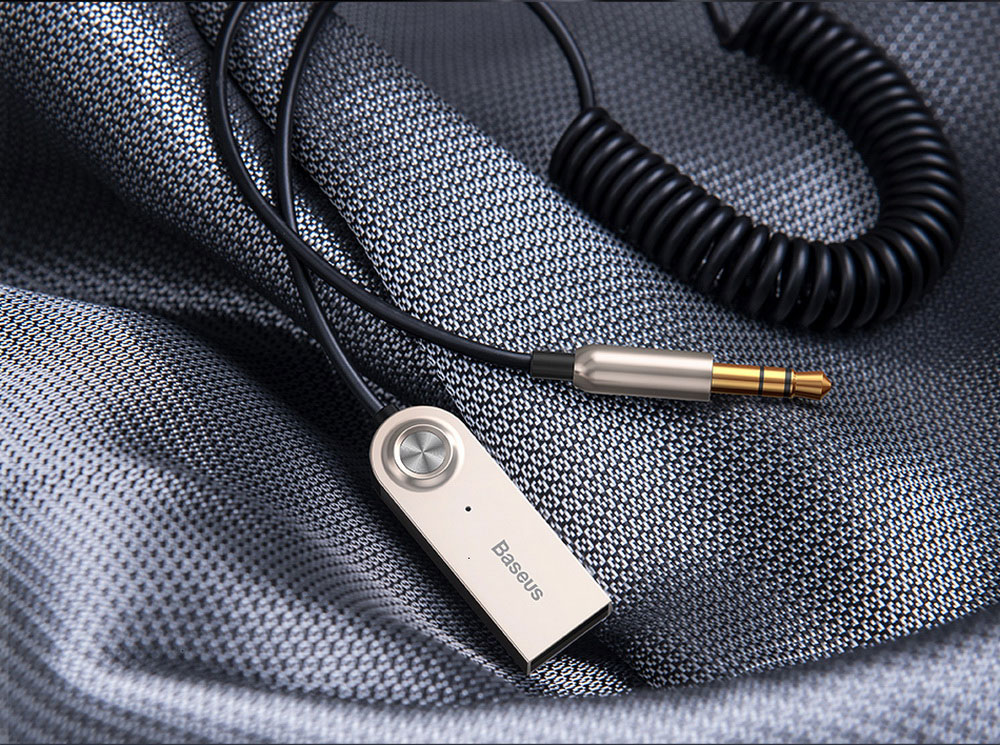 Baseus BA01 Audio Wireless Bluetooth Adapter Cable - Silver