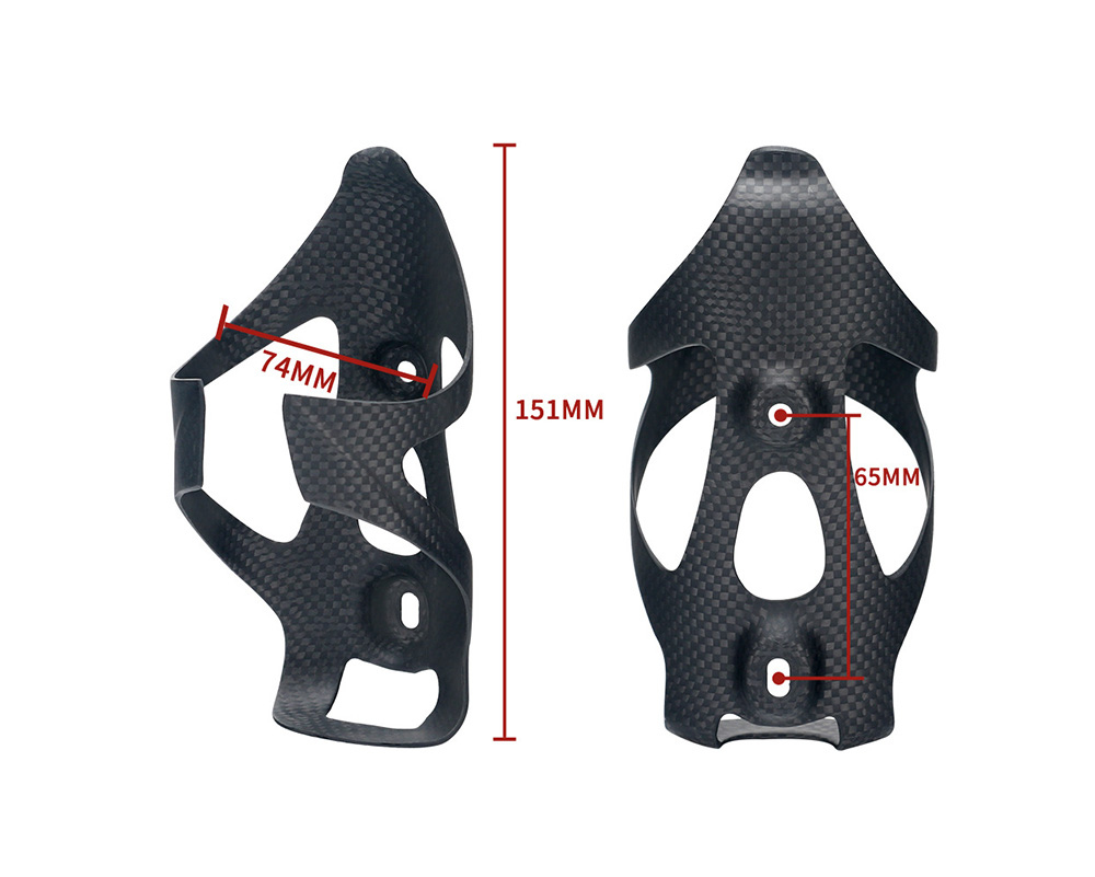 Bicycle Accessories Carbon Fiber Kettle Rack Outdoor Riding Sports Water Bottle Holder - Black Bright light