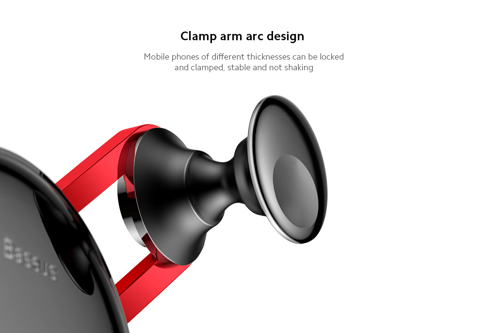 Baseus SULYY-01 YY Mobile Phone Car Bracket Comes with Charging Cable Air outlet Smartphone Navigation Holder Creative Gravity Stand - Silver TYPE-C version
