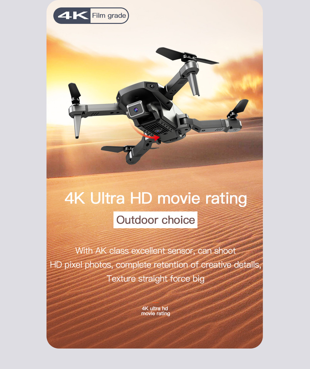 H3 RC Quadcopter UAV Drone - Black Single Camera