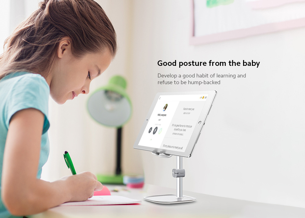 Baseus SUWY Anti-slip Stable Chasing Line Clip Bracket Lazy Stand Literary Youth Desktop Mobile Phone Tablet Holder - Silver
