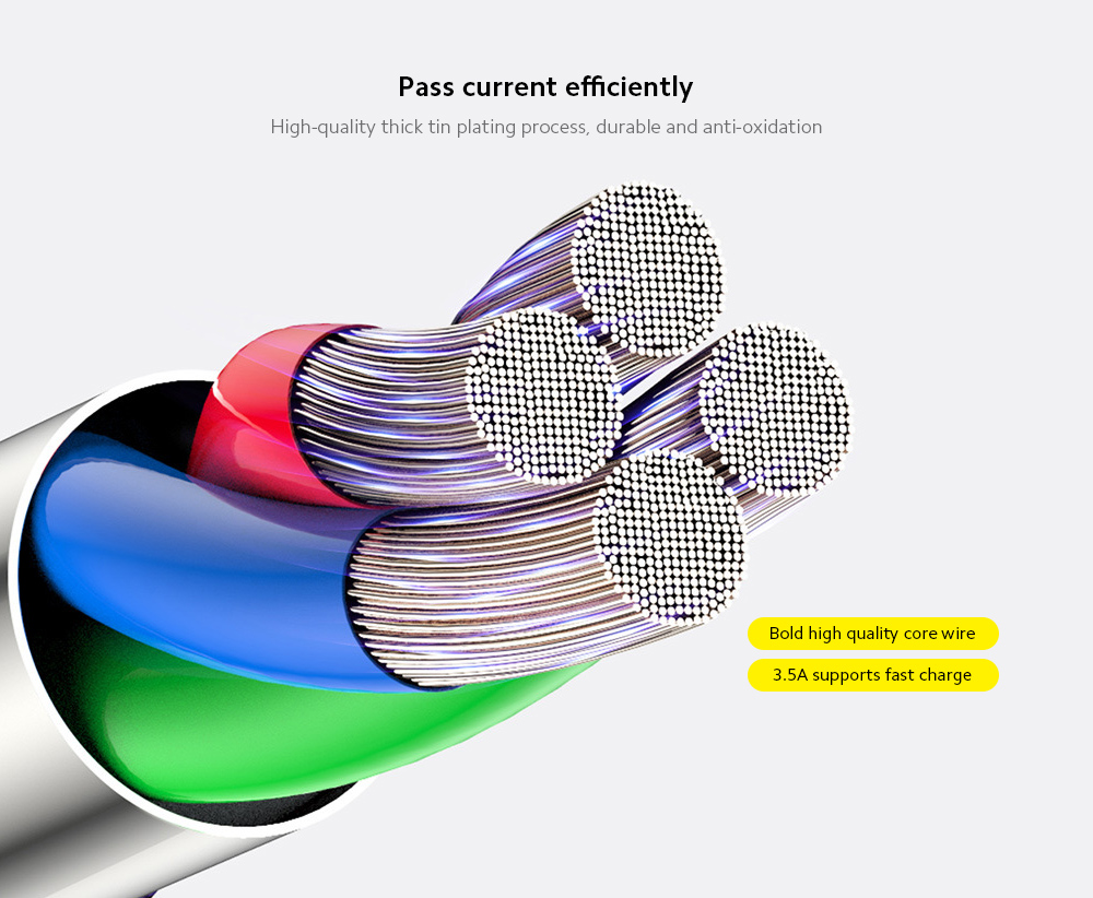 Baseus Care Blind Selection Mobile Phone One for Three Data Cable for Android Apple Type-C Mobile Phone Data Line 1.2M - Red