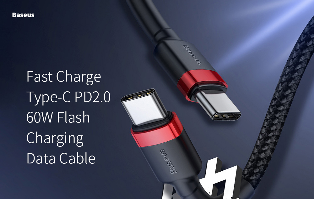 Baseus Kafule Series Type-C PD2.0 60W Flash Charging Data Cable (20V 3A) Mobile Phone Data Line - Multi-A 2M