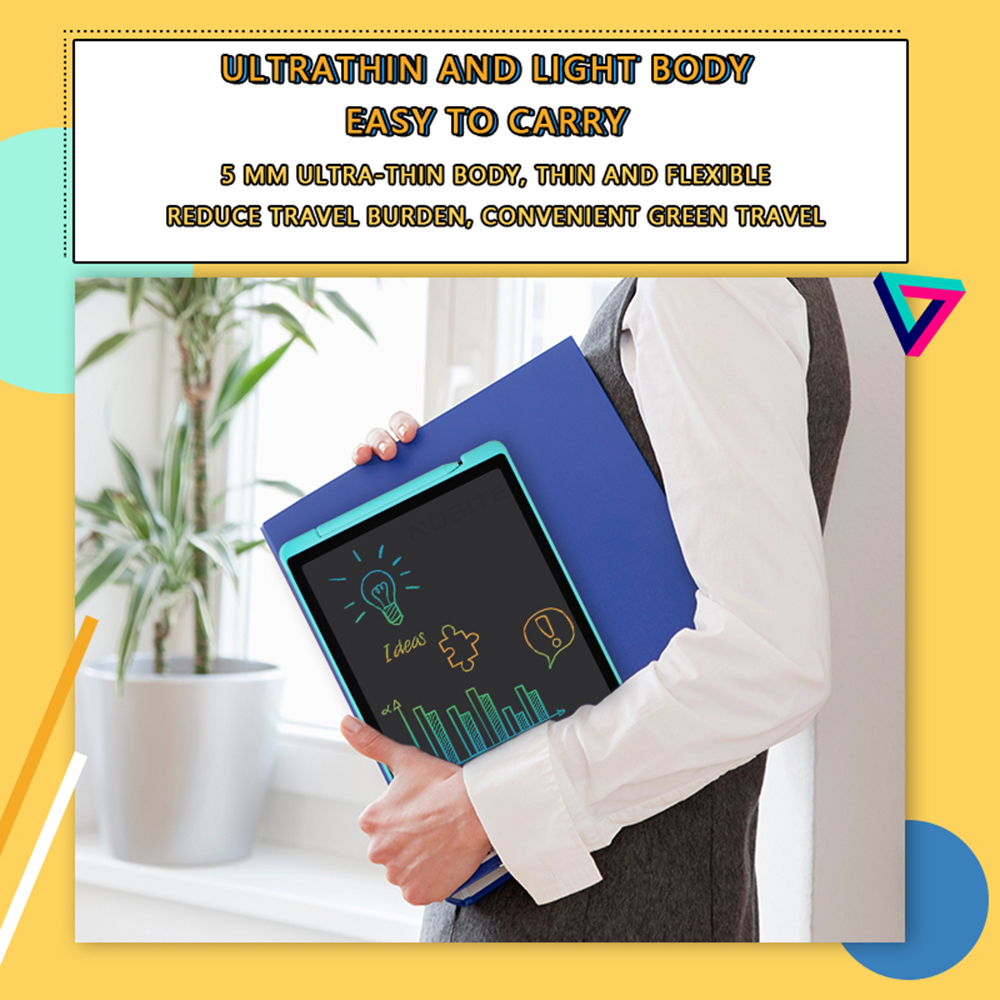 12-inch LCD Writing Tablet Electronic Drawing Doodle Board Digital Colorful Handwriting Pad Gift for Kids and Adult Protect Eyes - Dodger Blue