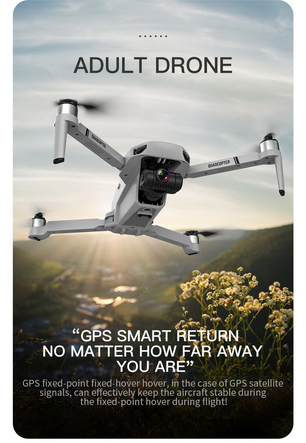 KF102 RC Quadcopter Drone Toy - Gray