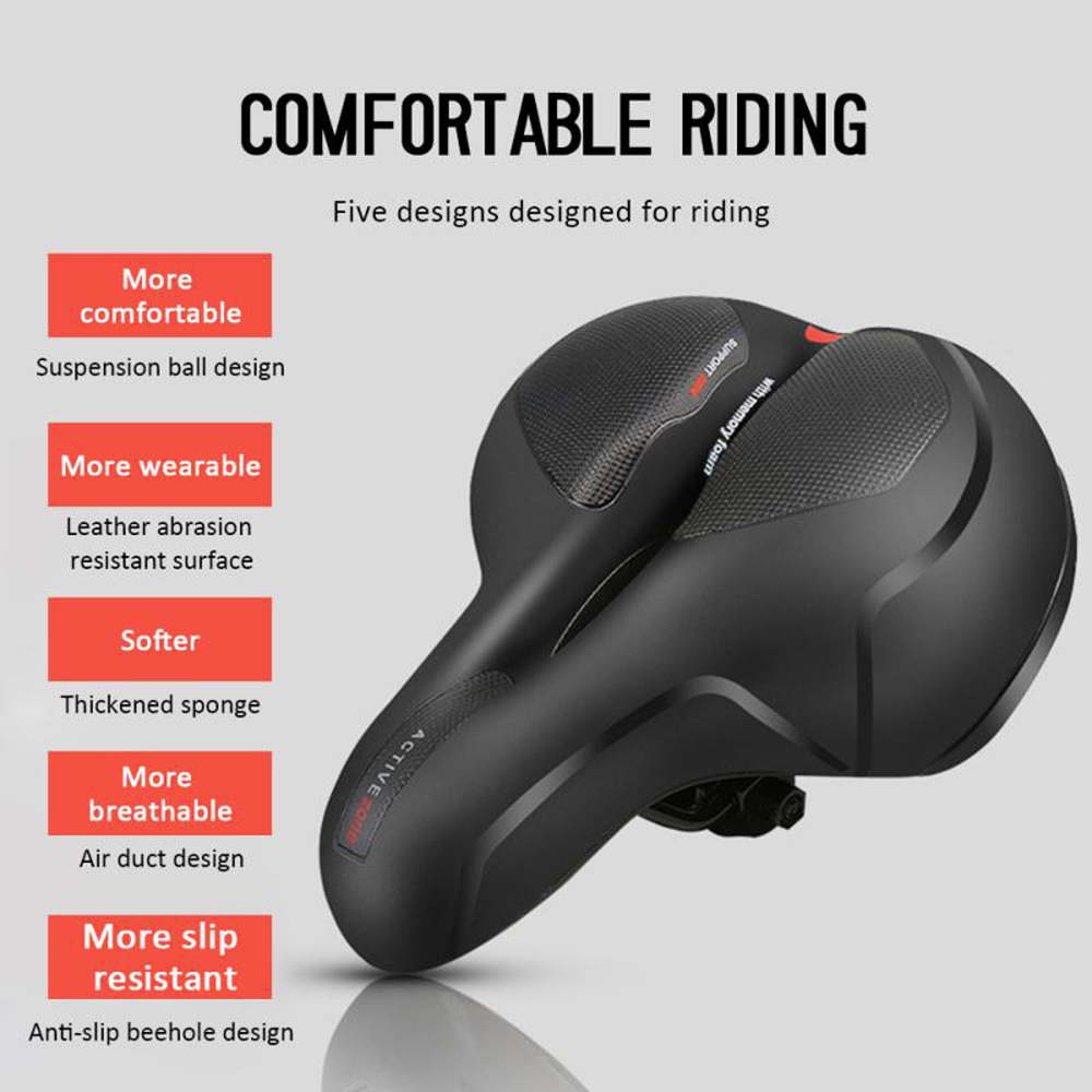 Bicycle Saddle - Black Blue Dot