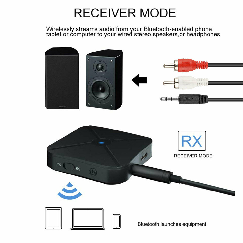 KN319 Bluetooth Transmitter Receiver Converter - Black
