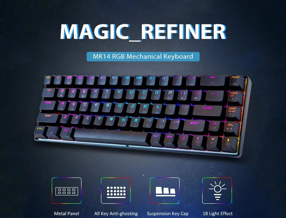 Magic Refiner MK14 Gaming Keyboard - Black