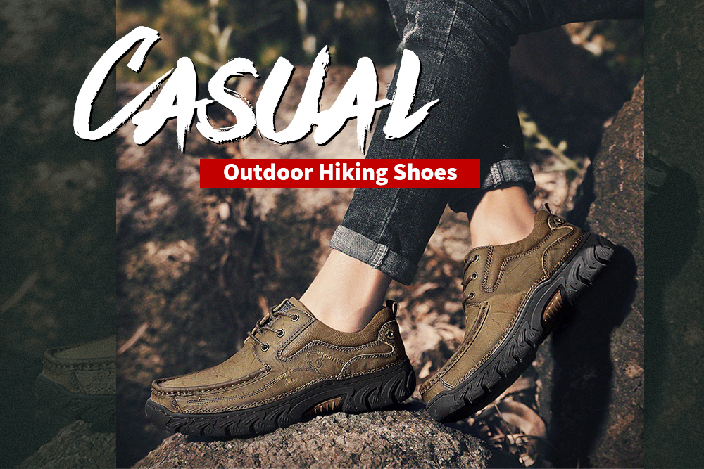 Men's British Solid Color Casual Shoes Low Help Outdoor Equipment - Light Brown 40