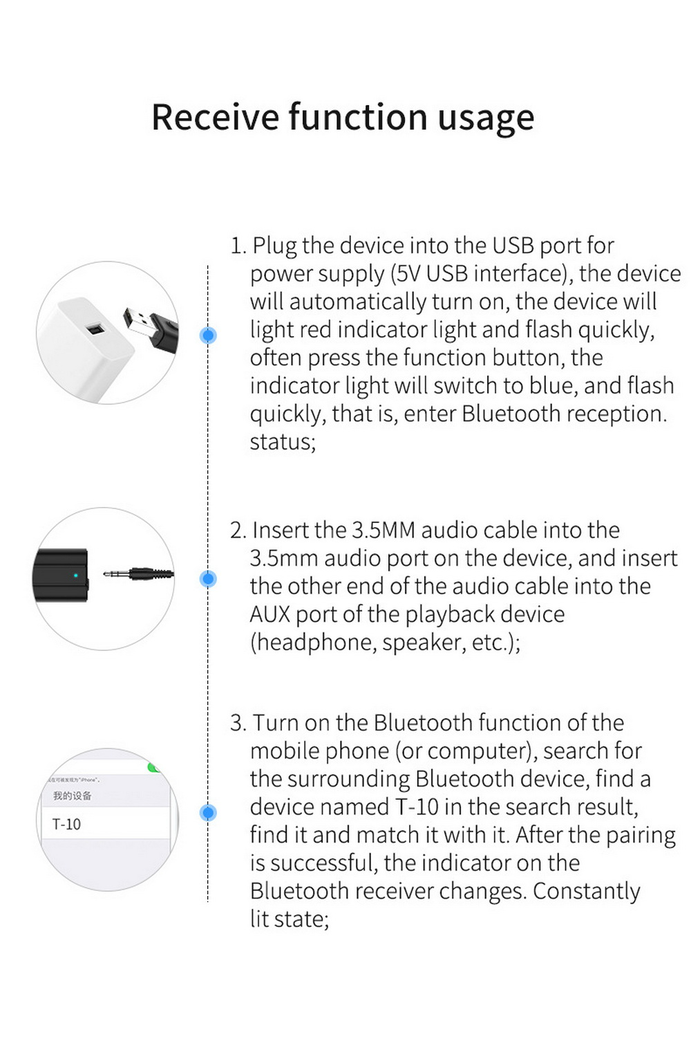 Audio Bluetooth Adapter - Black