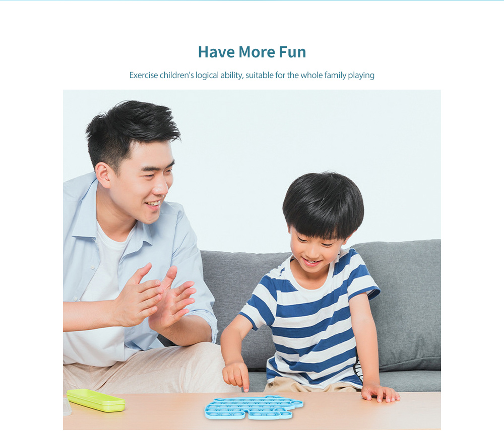 Children Educational Toy Mathematics and Logic Thinking Training Parent-child Interactive Board Game - Day Sky Blue Bear B