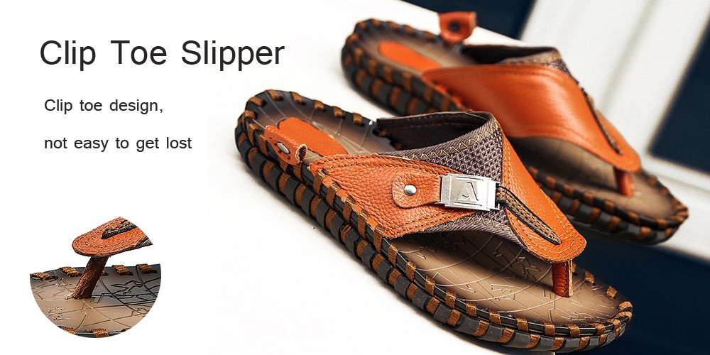 Summer Sandal Magazine Character Flops Beach Shoes Casual Beach Slippers Wading Shoes - Brown 40