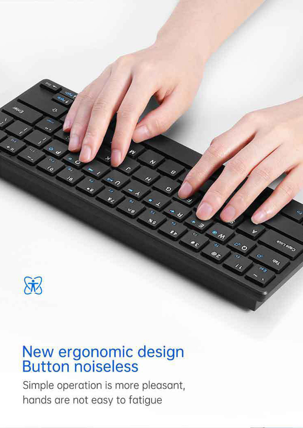 Wireless Keyboard and Mouse Set - Black