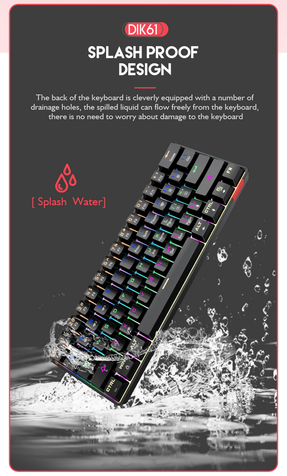 DIK61 Mechanical Keyboard - Black
