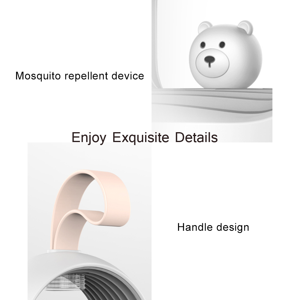 Mosquito Killer Lamp Household Physical Mute Indoor Baby Pregnant Woman Insect Repellent - Pink