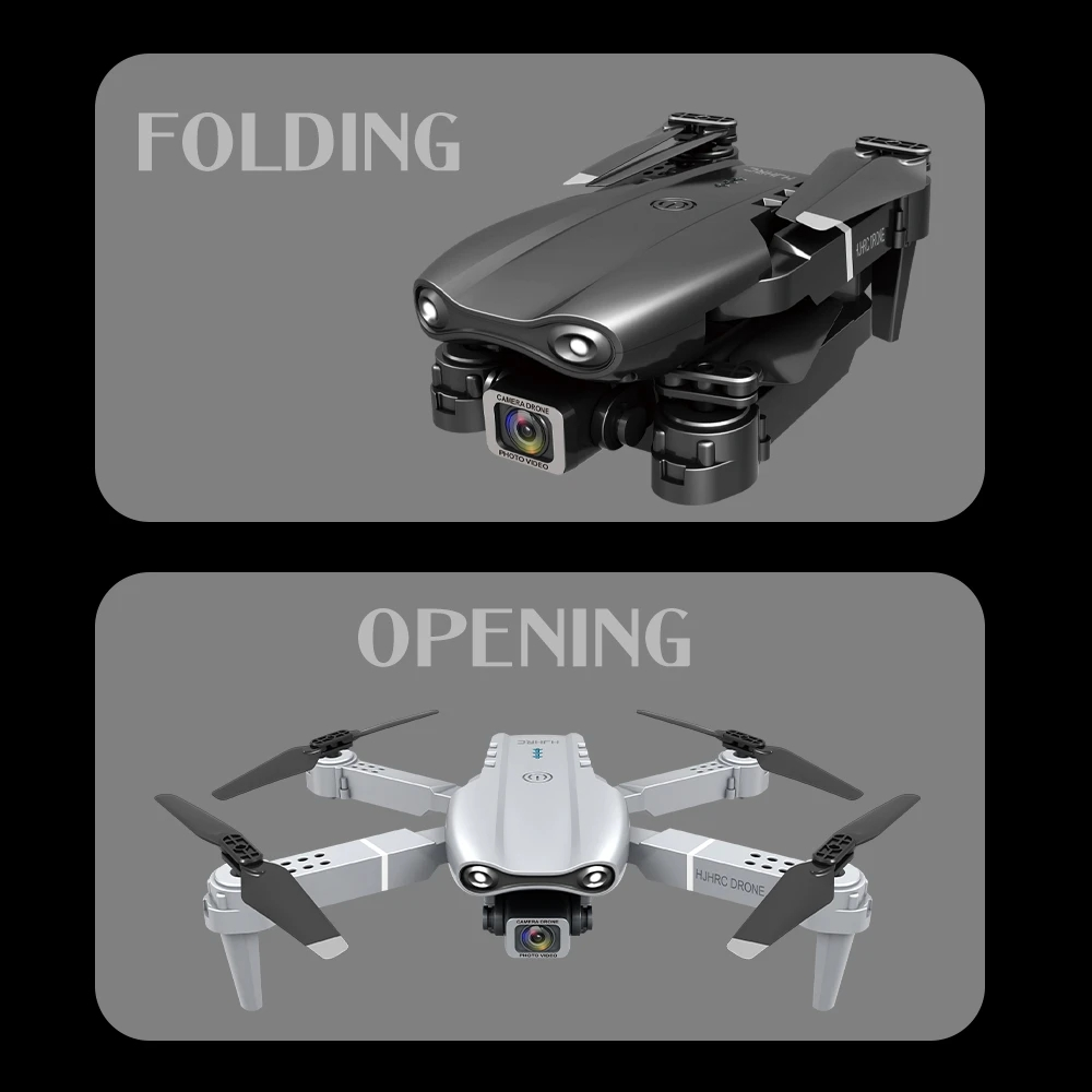 HJ97 WiFi FPV RC Drone Quadcopter RTF - Black 4k