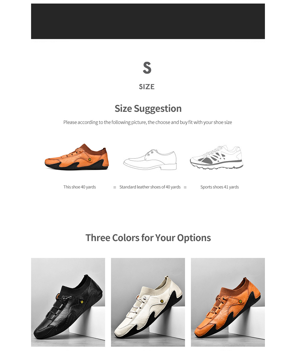 Korean Version Youth Trend Soft-soled Octopus Driving Men Flat Shoes Socks Mouth British Casual Leather Footwear - Black EU 46