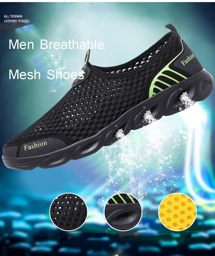 Lovers Outdoor Sports Casual Shoes Men Breathable Mesh Shoes Trend All-match Upstream Footwear - Gray EU 38