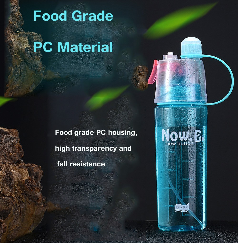 Outdoor Sports Spray Water Cup 600ml - Green