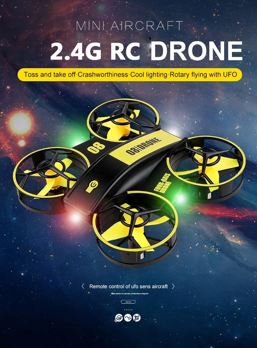 2.4G RC Drone Quadcopter RTF - Blue