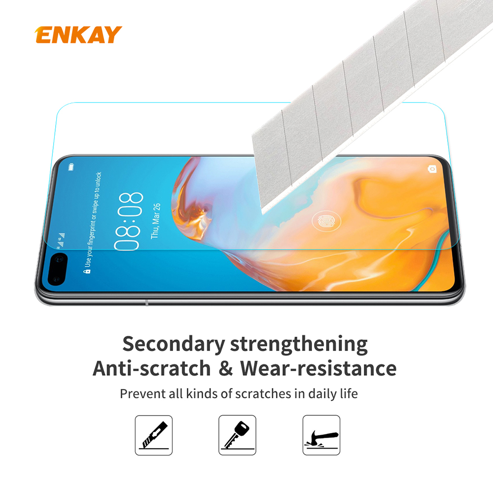 ENKAY Tempered Glass Screen Protector Film for Huawei P40 - Transparent
