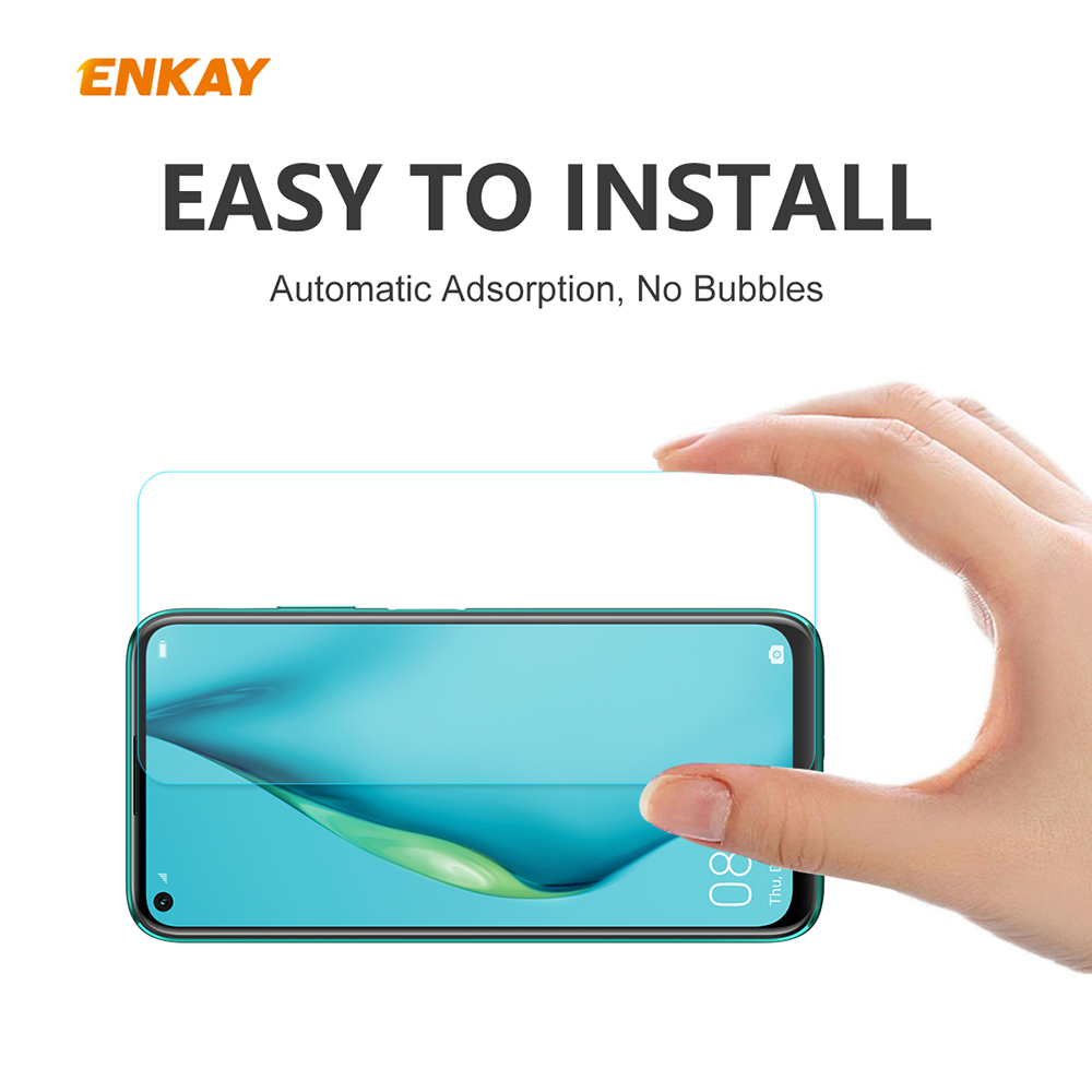 ENKAY Tempered Glass Protective Film for Huawei P40 Lite - Transparent