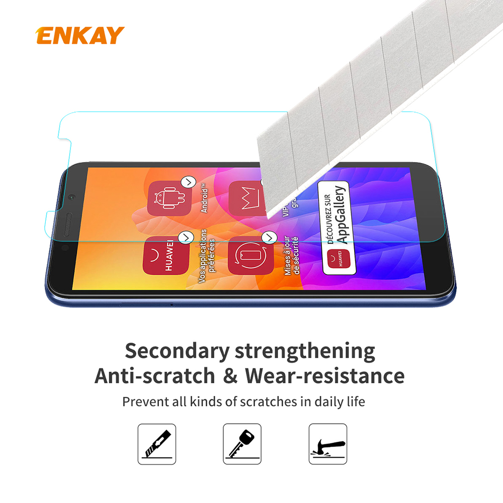 ENKAY Tempered Glass Protective Film for Huawei Y5P 2pcs - Transparent
