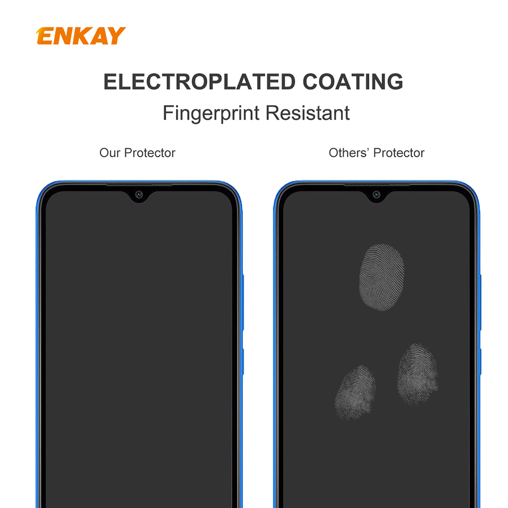 ENKAY Tempered Glass Protective Film for Huawei Y6P 2pcs - Transparent