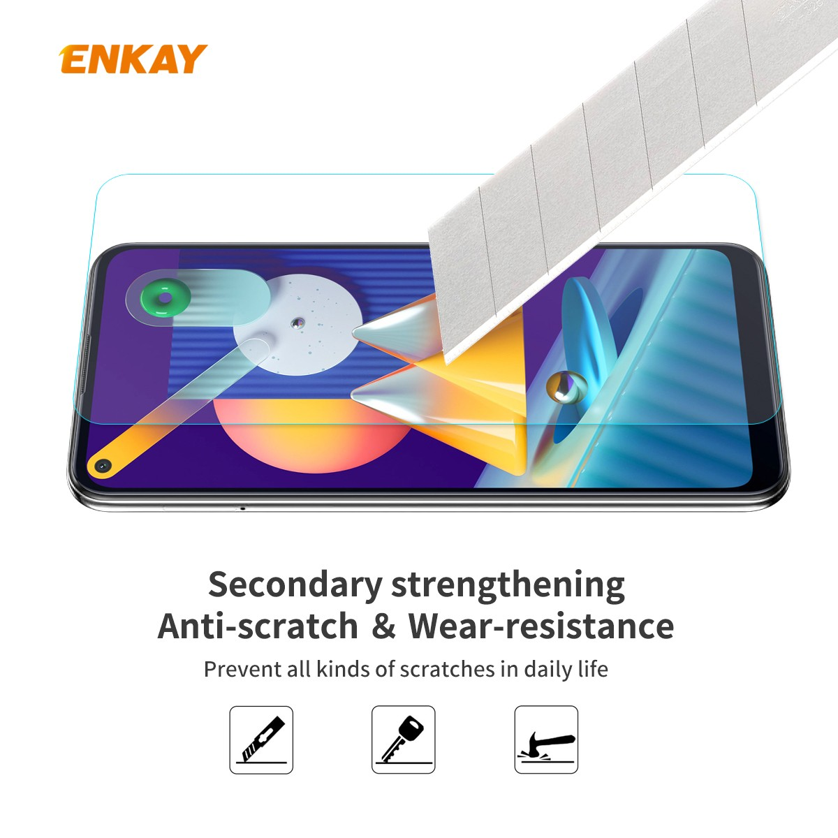 ENKAY Tempered Glass Protective Film for Samsung Galaxy A11 / Galaxy M11 2pcs - Transparent