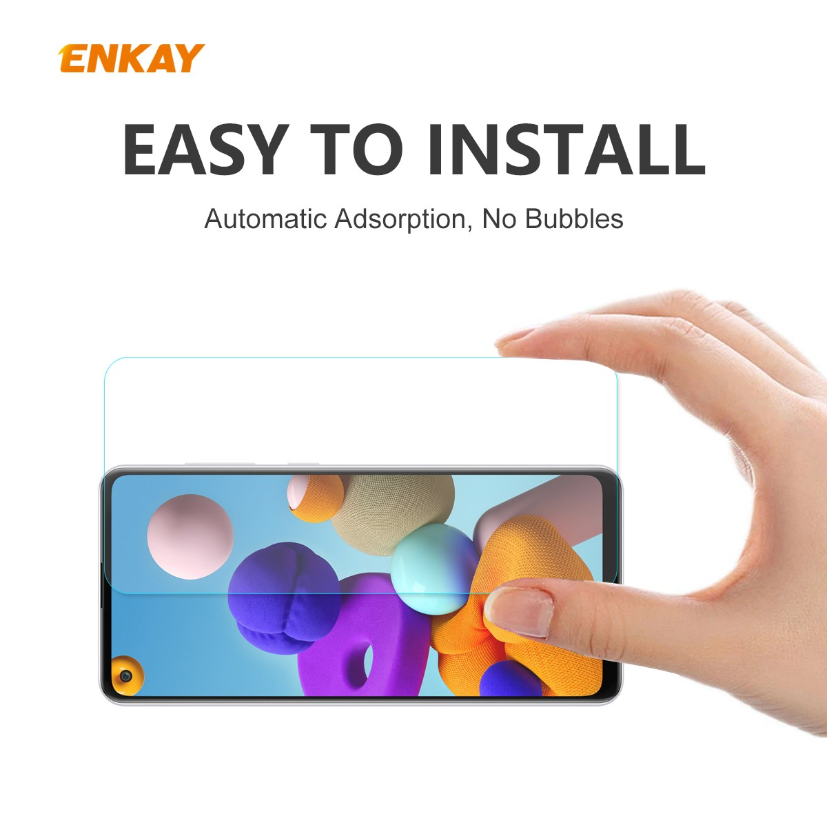 ENKAY Tempered Glass Protective Film for Samsung Galaxy A21s 2pcs - Transparent