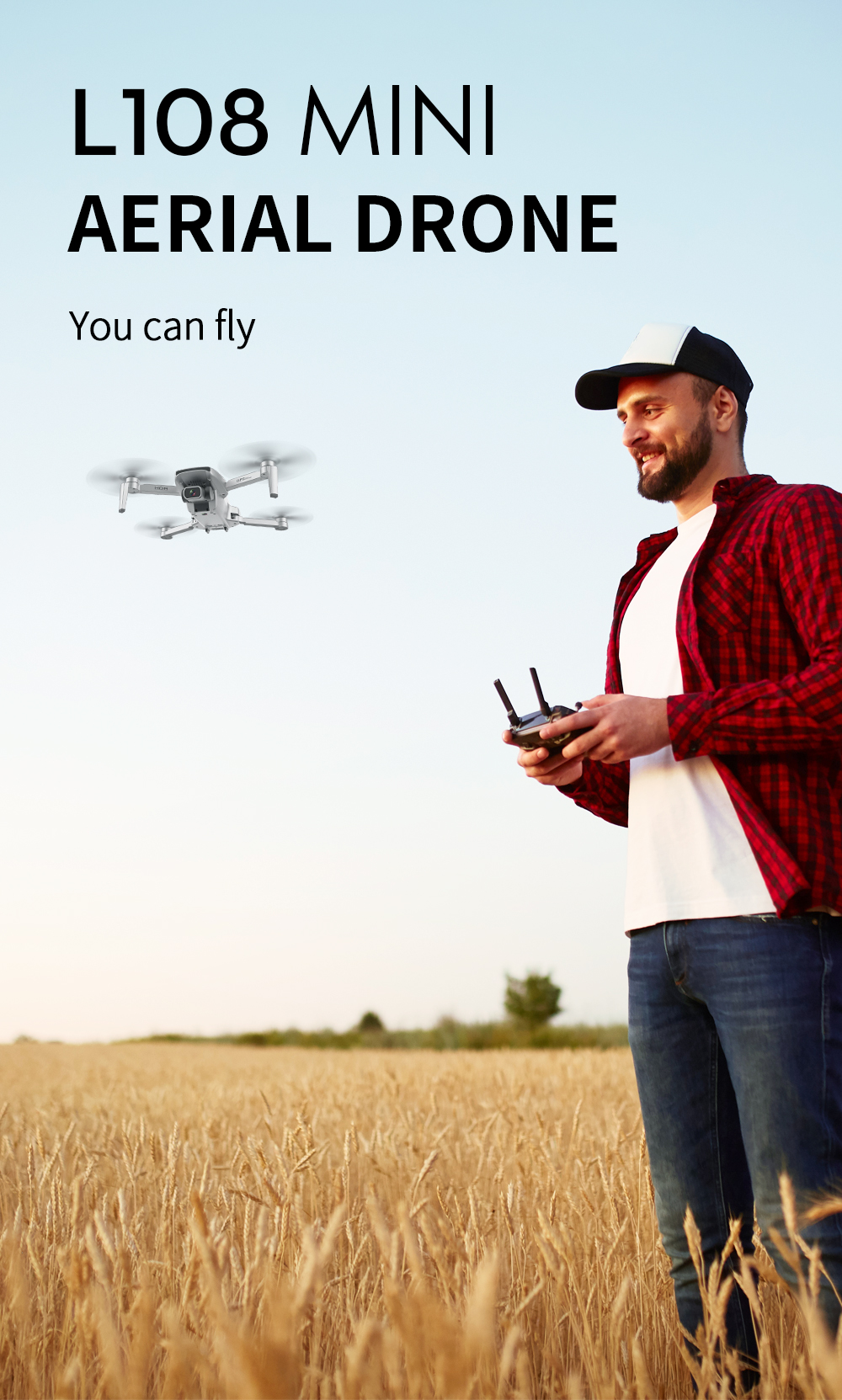 L108 Brushless Folding RC Quadcopter Drone Aircraft Toy - White