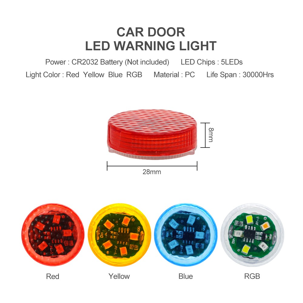 Car Door LED Warning Light 2PCS - Yellow