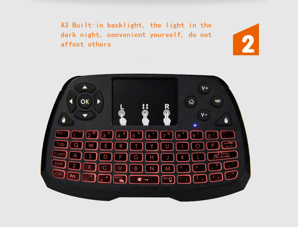 A3 Touch Air Mouse - Black Standard Dry Battery