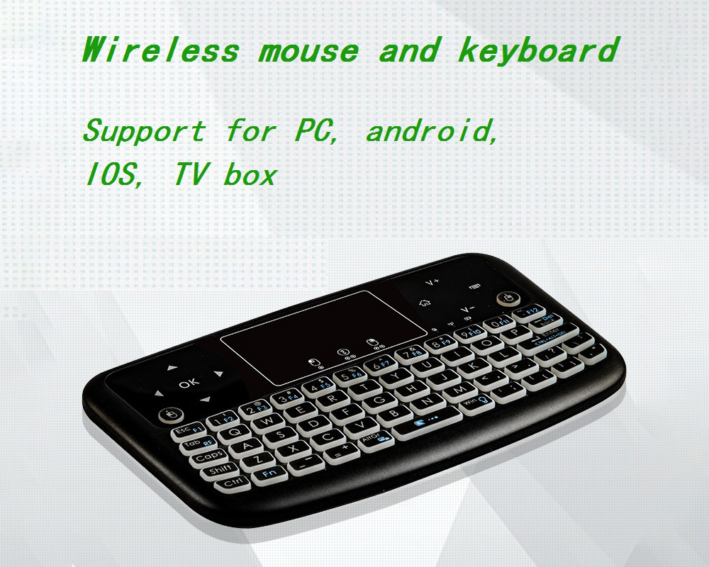 A36 Wireless Mini Air Mouse - Black Standard Dry Battery