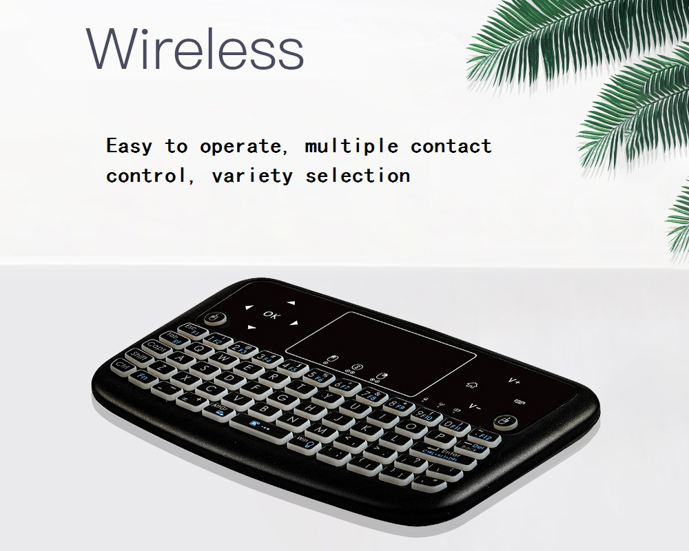 A36 Wireless Mini Air Mouse - Black Backlight Dry Battery