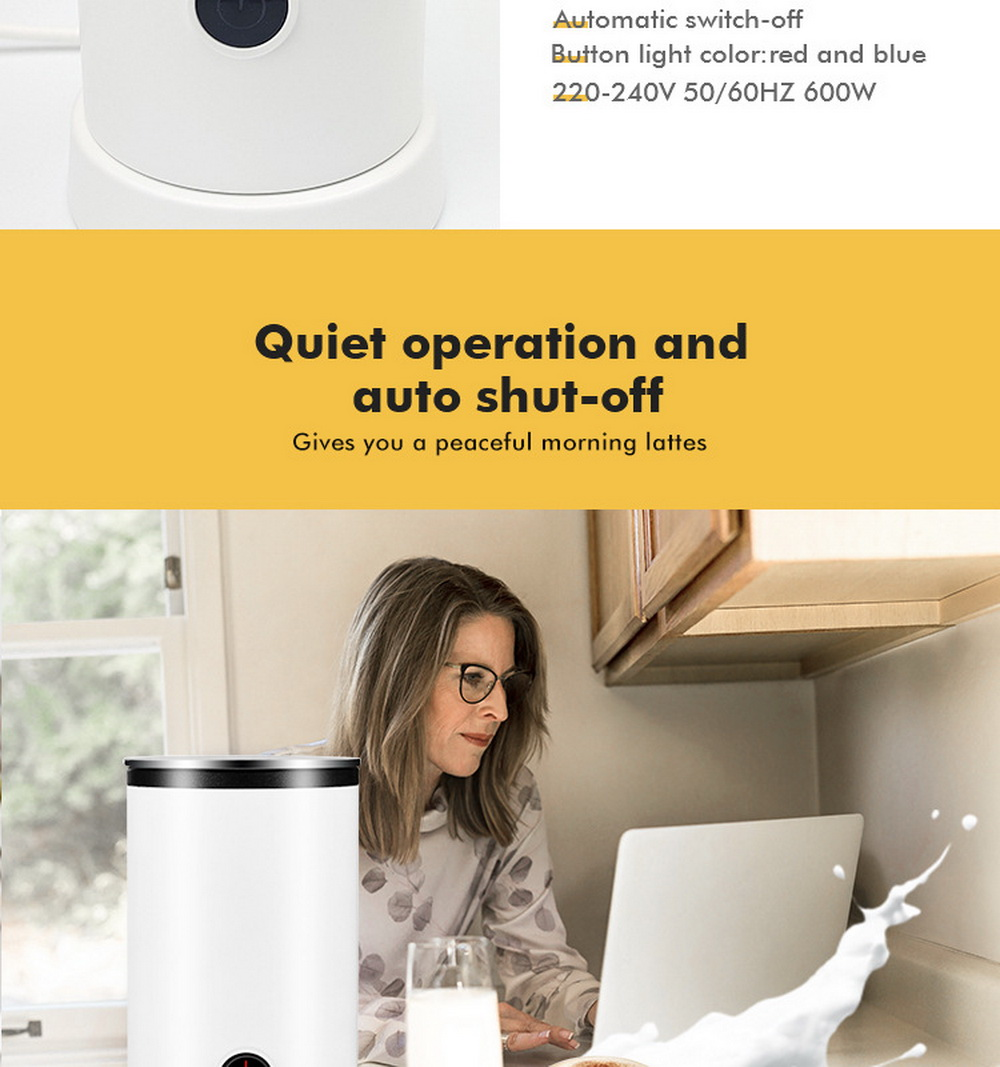 Electric Milk Frother Machine - White