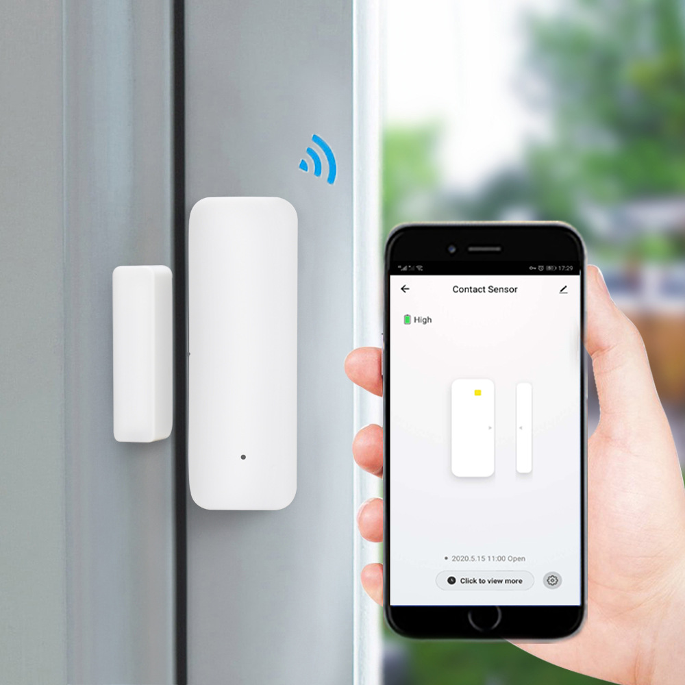Tuya Graffiti Door Magnetic Sensor Smart Home WiFi Door Window Alarm - White