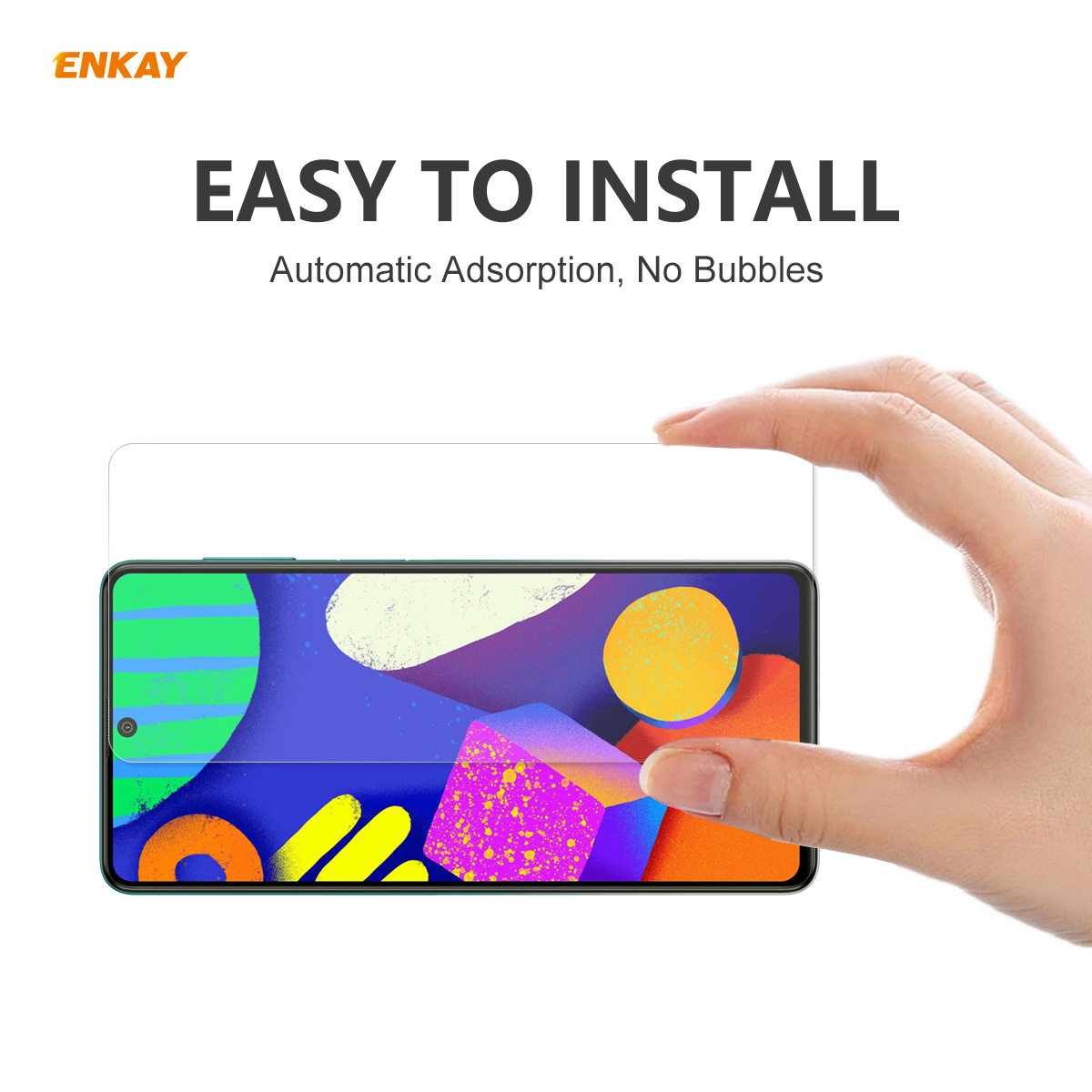 ENKAY Hat-Prince Phone Tempered Glass Protective Film for Samsung Galaxy F62 2PCS - Transparent